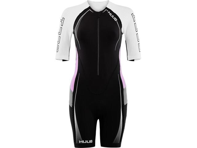 HUUB Anemoi Aero Tri Suit Dames, black/white/pink